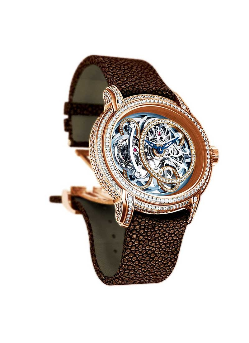 Audemars Piguet Millenary Chalcedony Tourbillon in Rose Gold with Diamond Bezel