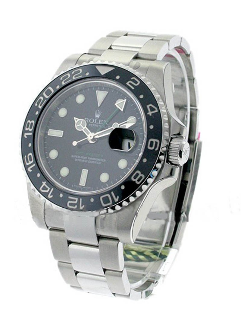 Rolex Unworn GMT Master II In Steel with Black Ceramic Bezel