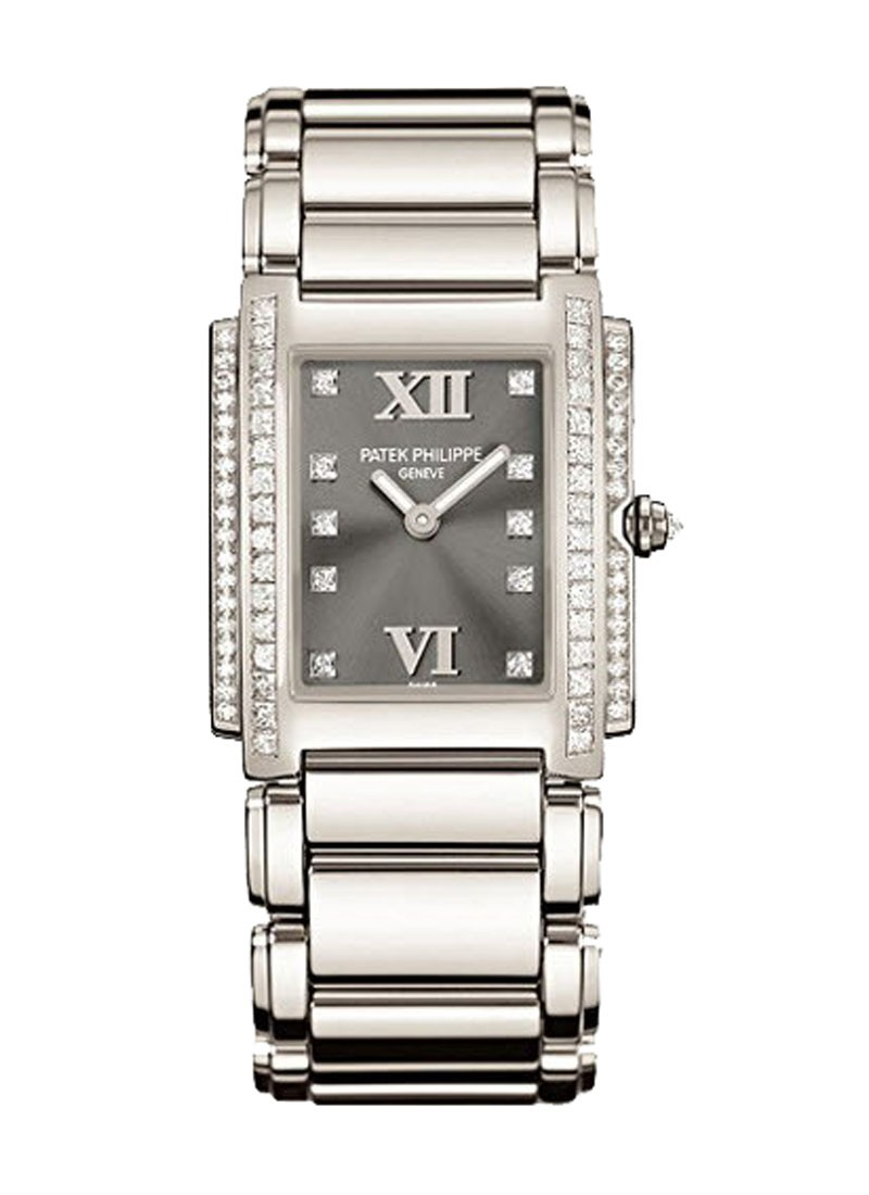 Patek Philippe Twenty-4 in White Gold with 2-Row Diamond Bezel