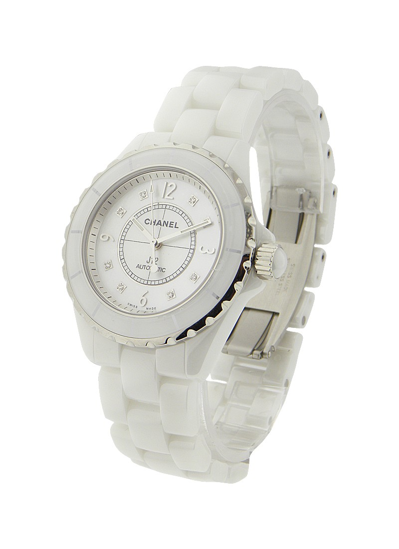 Chanel Full Size J12 in White Ceramic