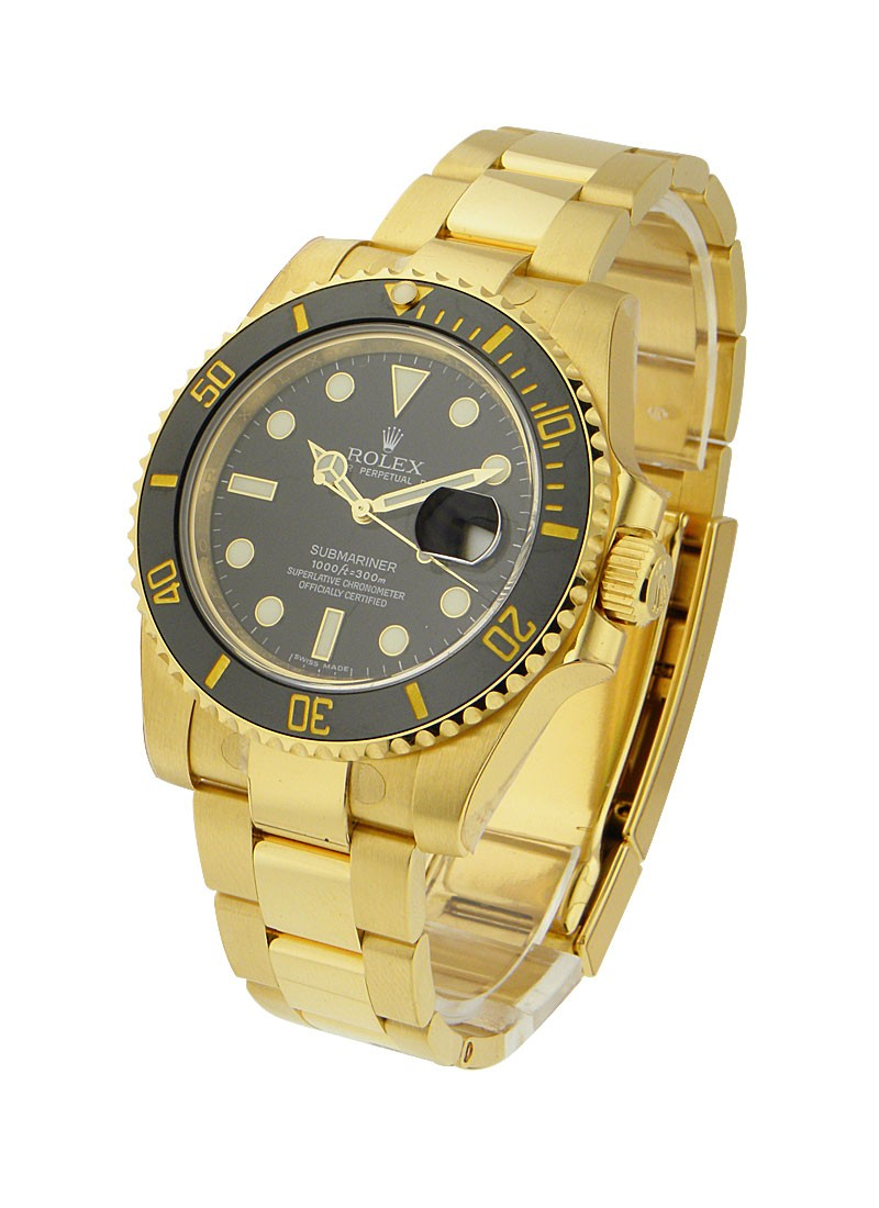 Rolex Unworn Yellow Gold Submariner   116618