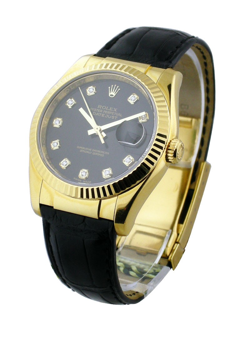 Rolex Unworn Men's Yellow Gold Datejust with Fluted Bezel