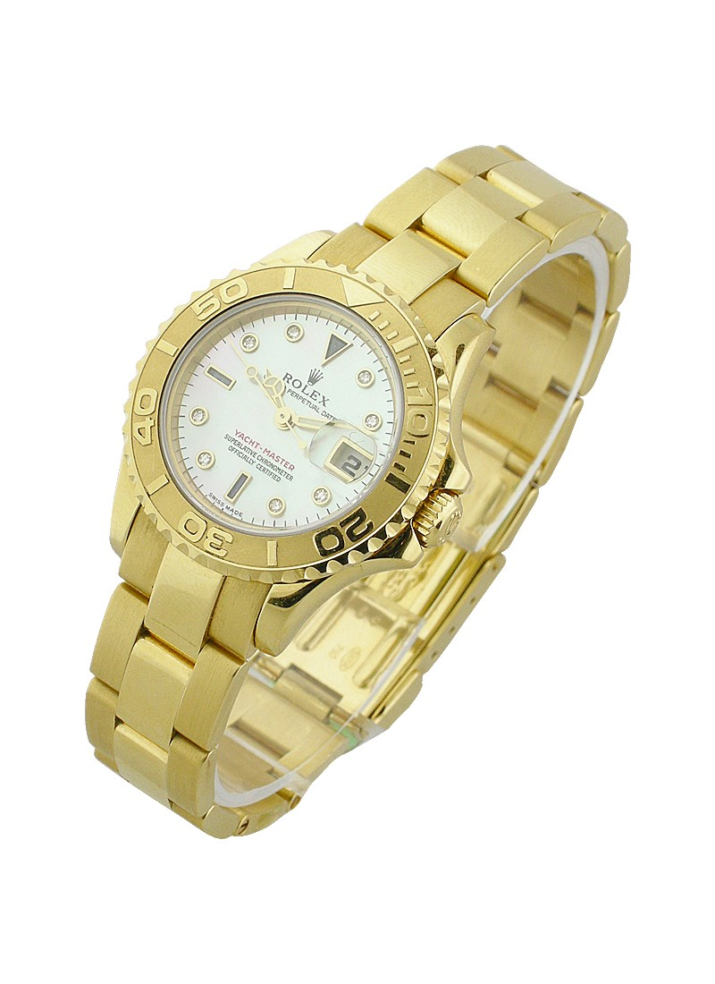 Rolex Used Yacht Master 31mm in Yellow Gold