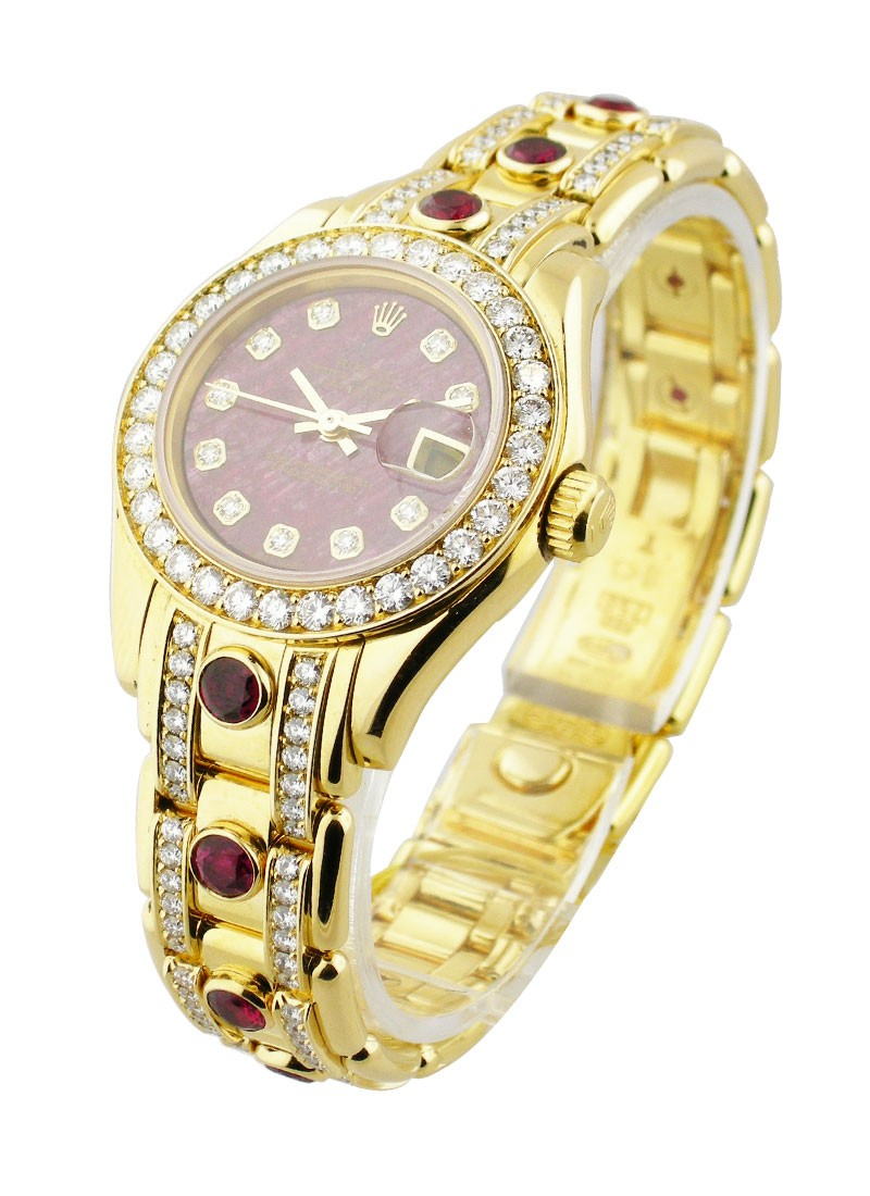 Pre-Owned Rolex Masterpiece with Yellow Gold 32 Diamond Bezel