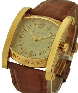 ea4735c02ad Assioma 44mm Automatic in Yellow Gold on Brown Alligator Leather Strap with  Ivory Dial