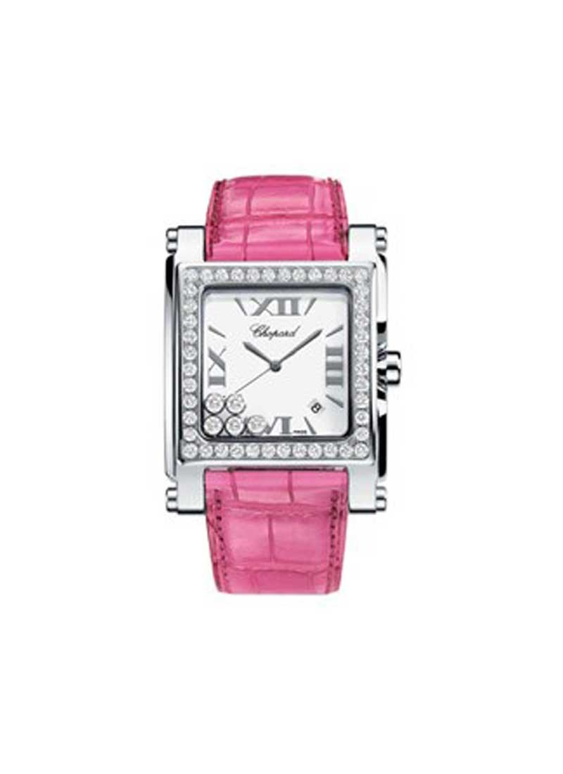 Chopard Happy Sport Square in Steel with Diamond Bezel