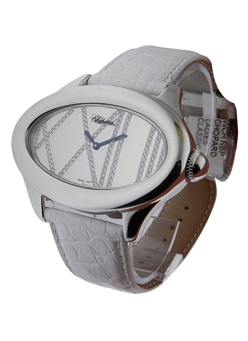 Chopard Montres Dame Cat Eye X Large in White Gold