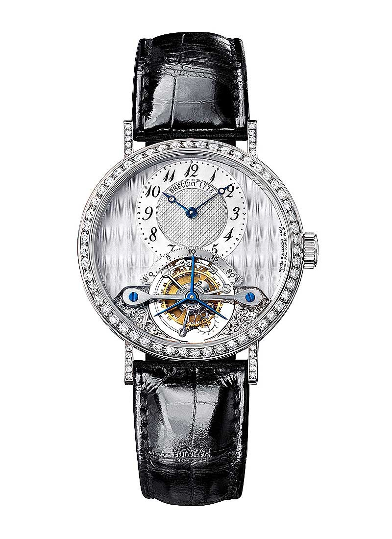 Breguet Classique ourbillon in White Gold with Diamond Bezel & Lugs