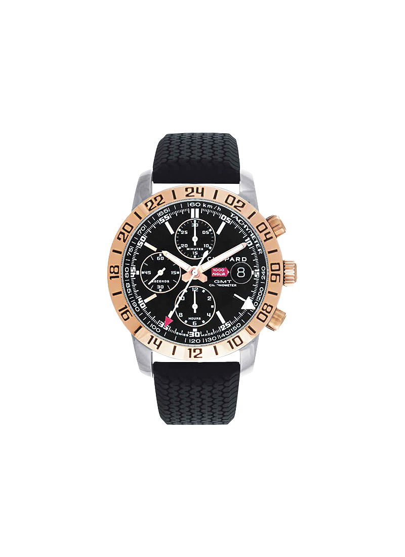 Chopard Mille Miglia GT XL Chrono in Steel with Rose Gold Bezel