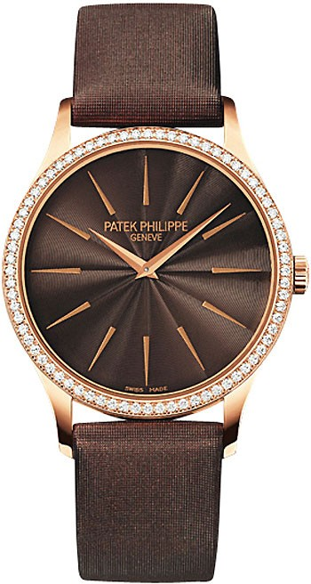 Patek Philippe Calatrava Ref 4897R in Rose Gold with Diamond Bezel