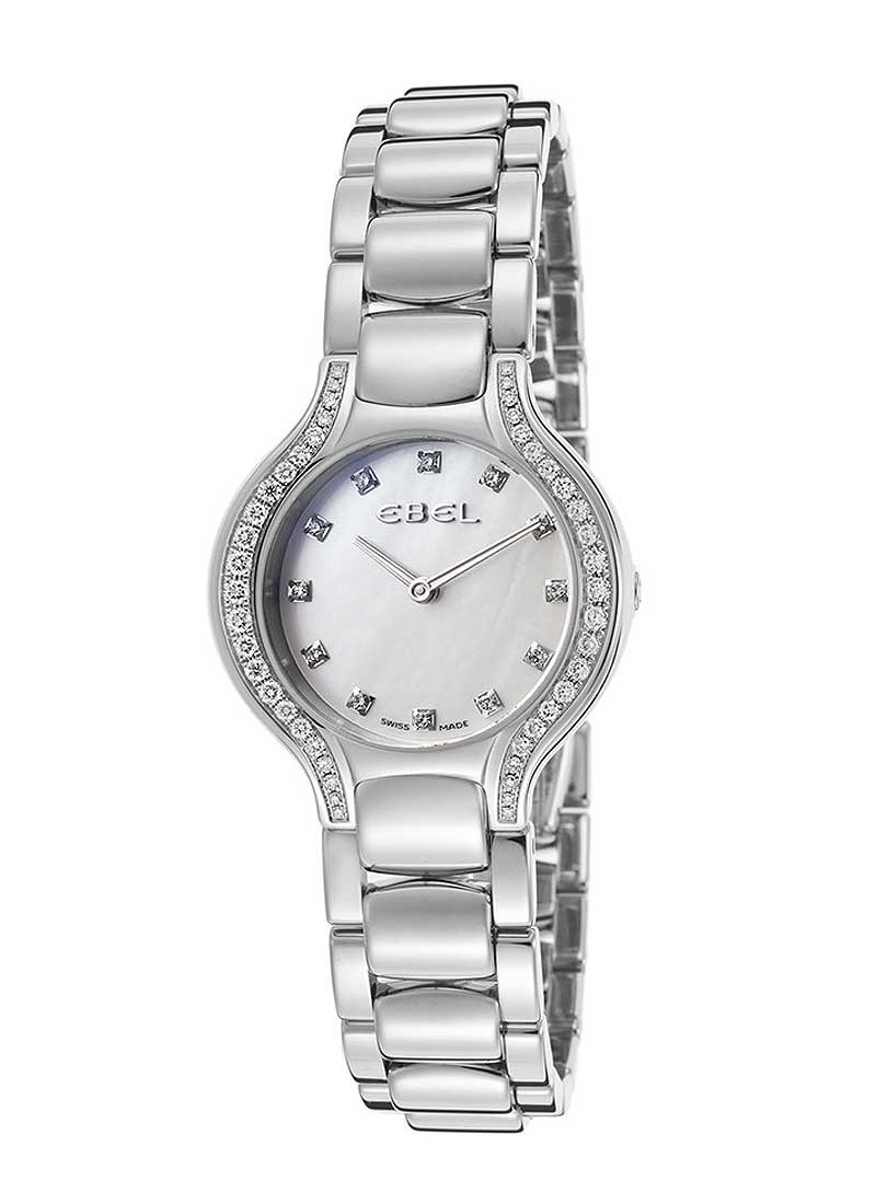 Ebel New Beluga Mini in Steel with Diamond Bezel