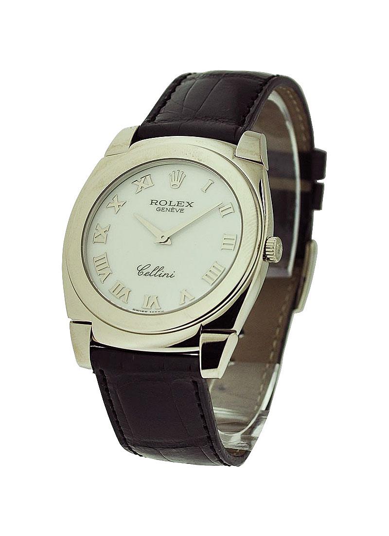 Rolex Unworn Cellini Cestello in White Gold