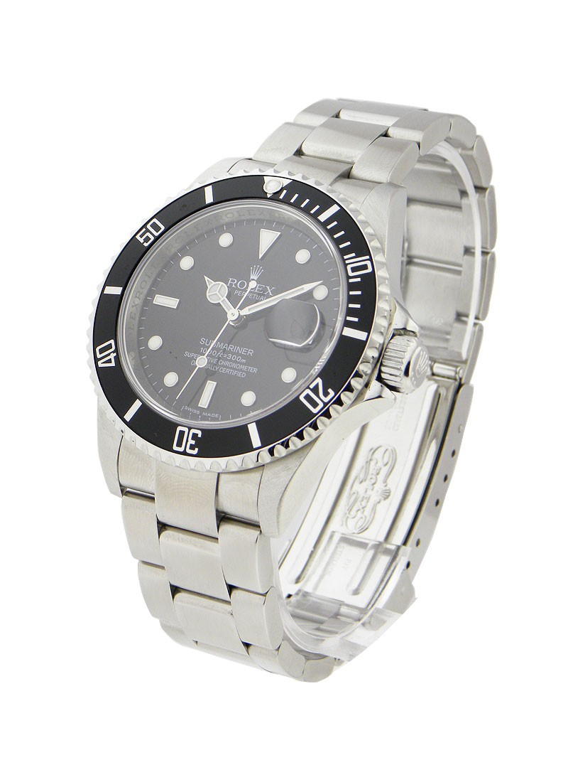 Pre-Owned Rolex Submariner in Steel with ENGRAVED BEZEL