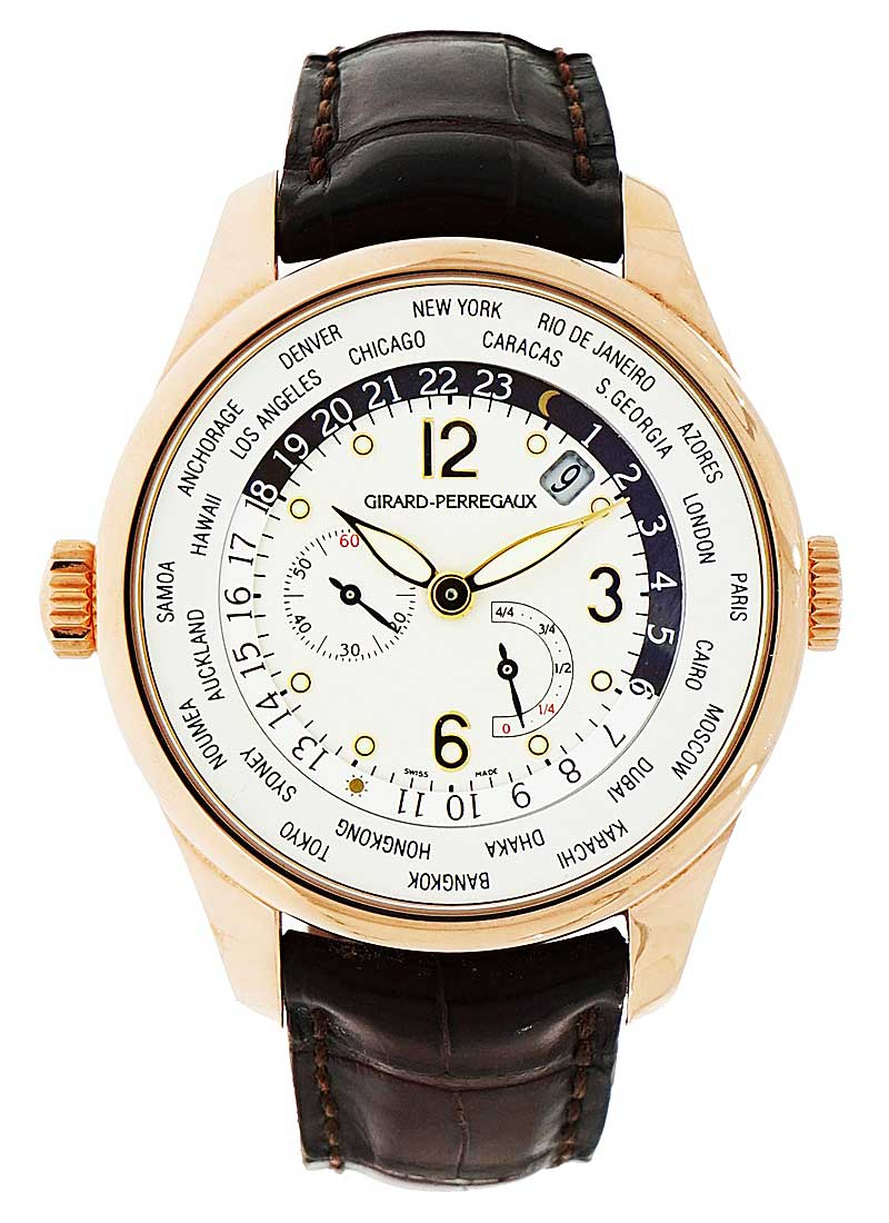 Girard Perregaux World Time Chronograph WWTC Power Reserve in Rose Gold