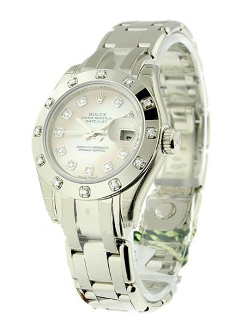 Rolex Unworn Masterpiece Lady's in White Gold with 12 Diamond Bezel