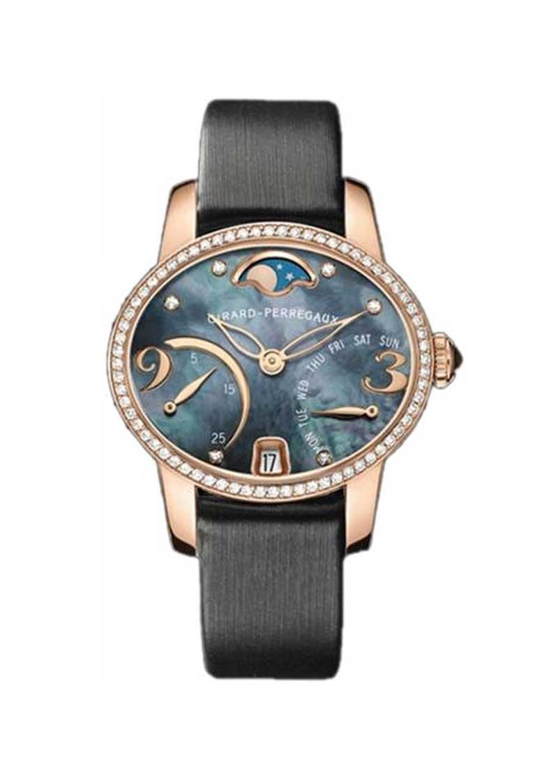 Girard Perregaux Cat's Eye Bi-Retro Moon Phase in Rose Gold