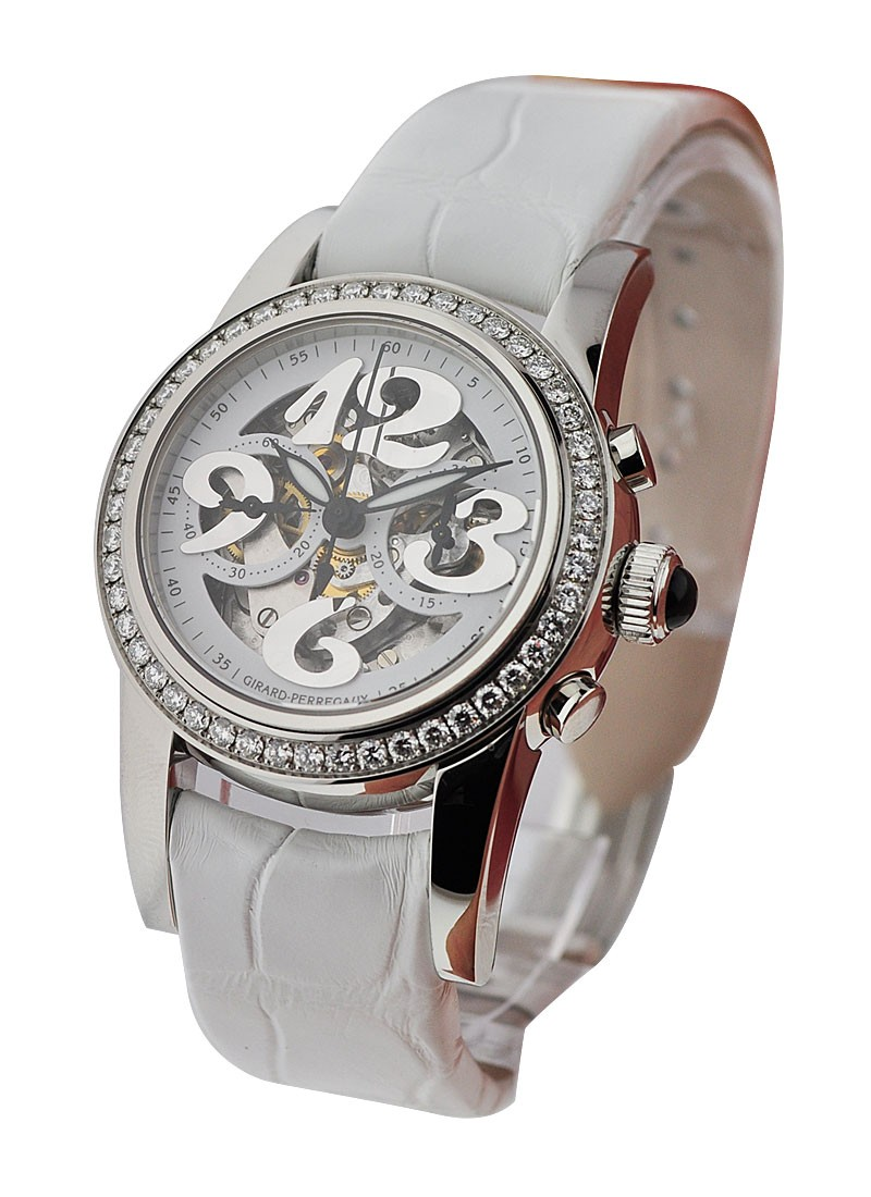 Girard Perregaux Small Chronograph Lady   Diamond Bezel