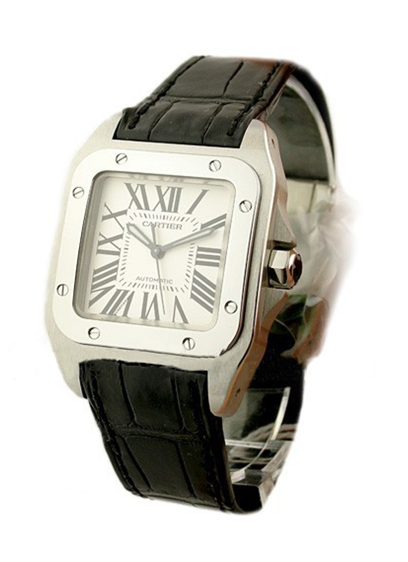 Cartier Santos 100 Large Size in Steel
