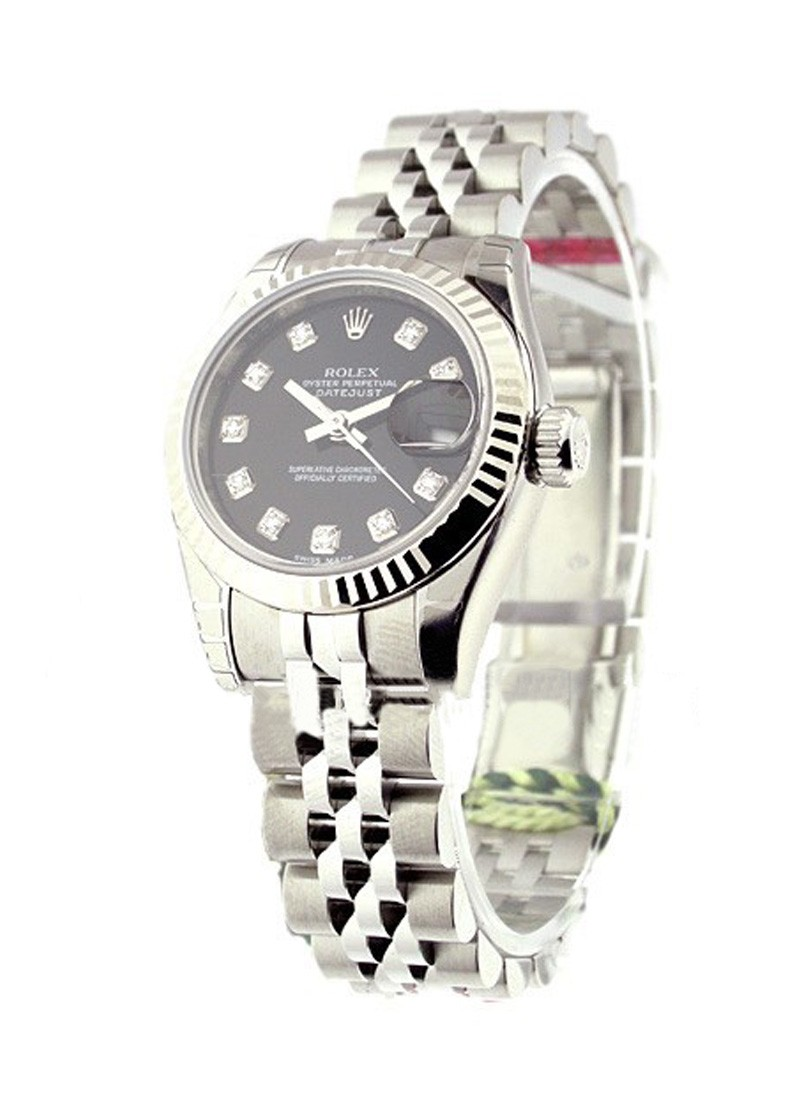 Rolex Unworn Datejust Automatic in Steel with White Gold Fluted Bezel