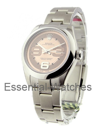 Rolex Unworn Mid Size Oyster Perpetual in Steel with Domed Bezel
