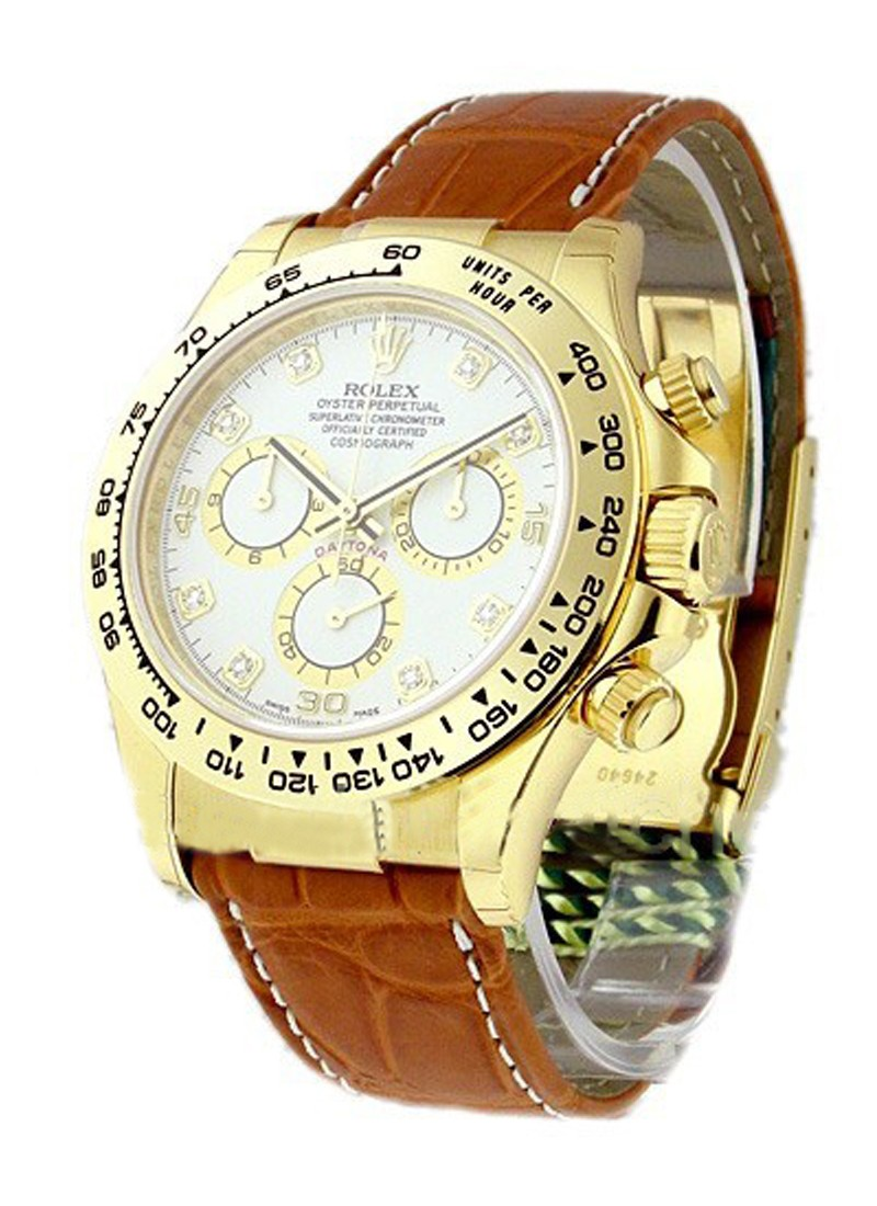 Rolex Unworn Yellow Gold DAYTONA on Strap   116518