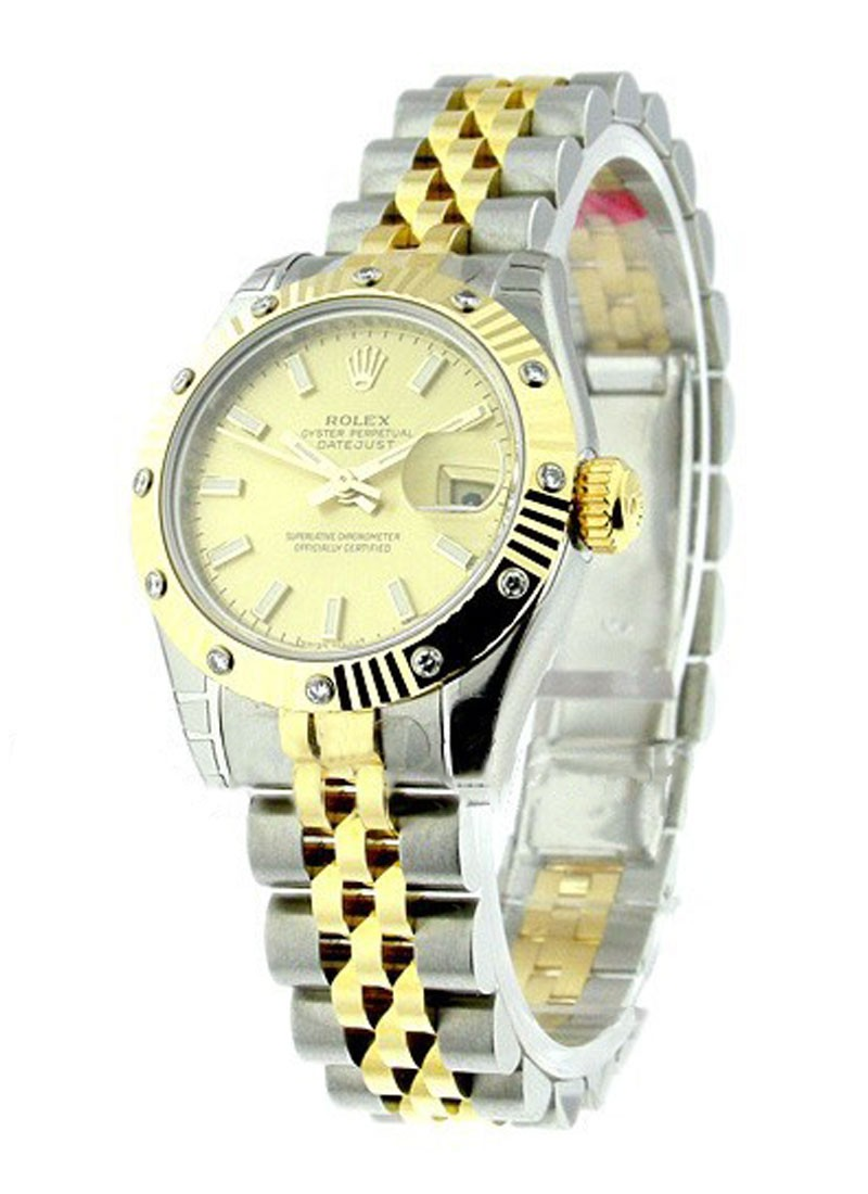 Rolex Unworn Lady's 2 Tone Datejust with Jubilee Bracelet 17931