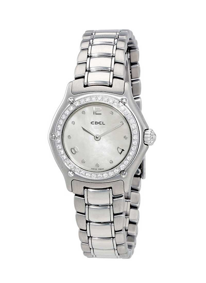 Ebel 1911 Ladies in Steel with Diamond Bezel