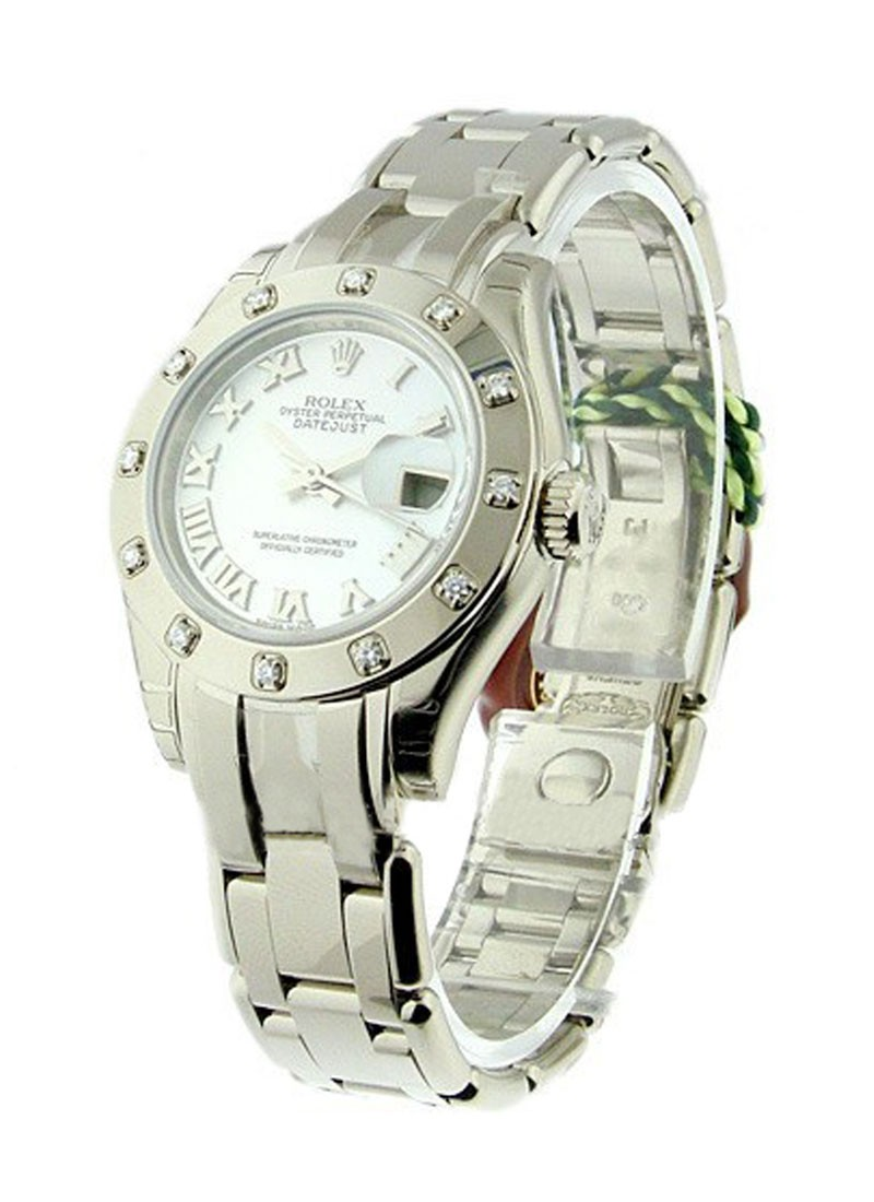 Rolex Unworn  Lady's White Gold Masterpiece with 12 Diamond Bezel