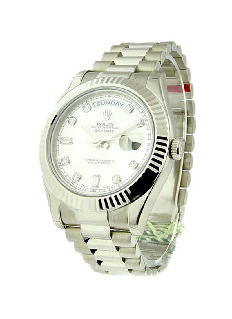 Rolex Unworn Men's Day Date II President in White Gold   218239