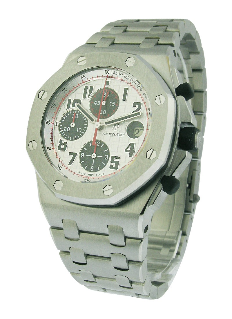 Audemars Piguet Royal Oak Offshore Panda Chronograph in Steel