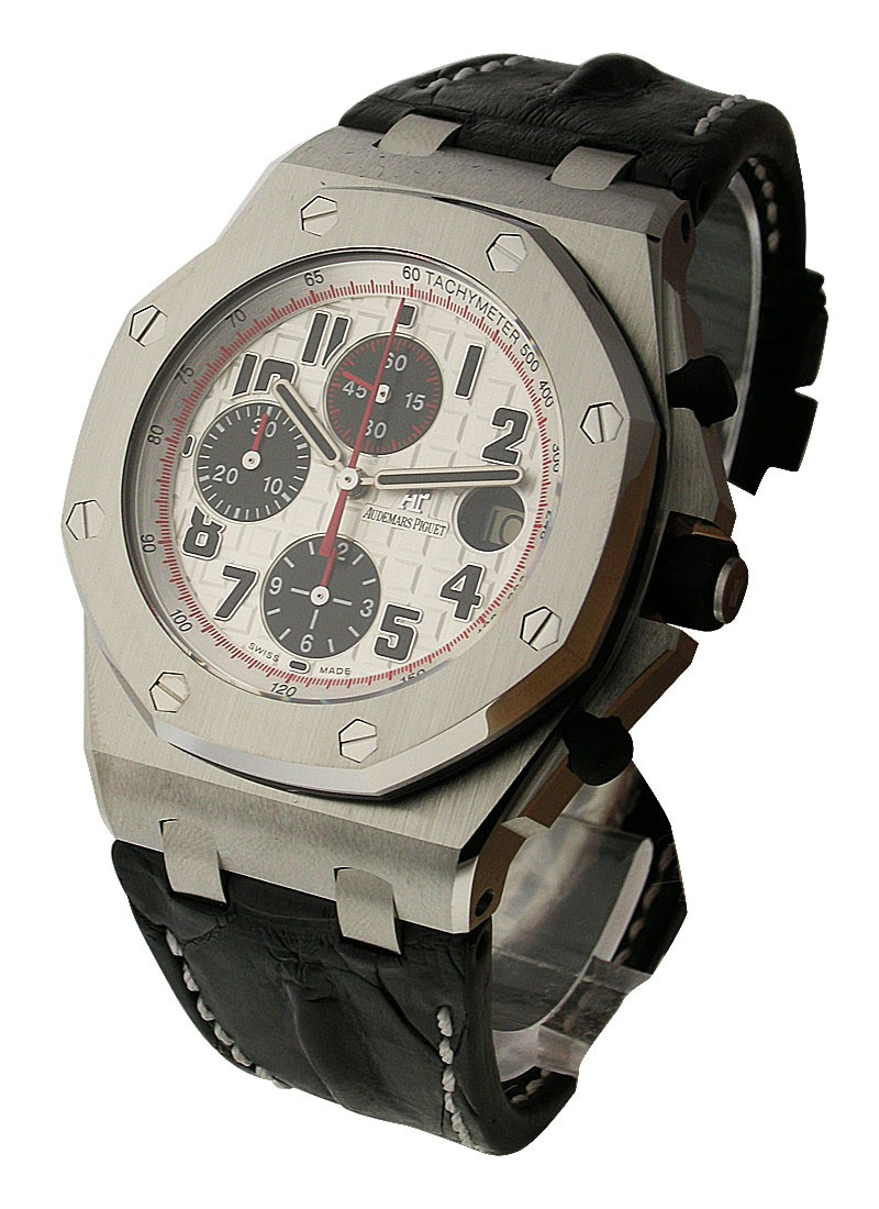 Audemars Piguet Panda   Royal Oak Offshore Chronograph in Steel with Bezel