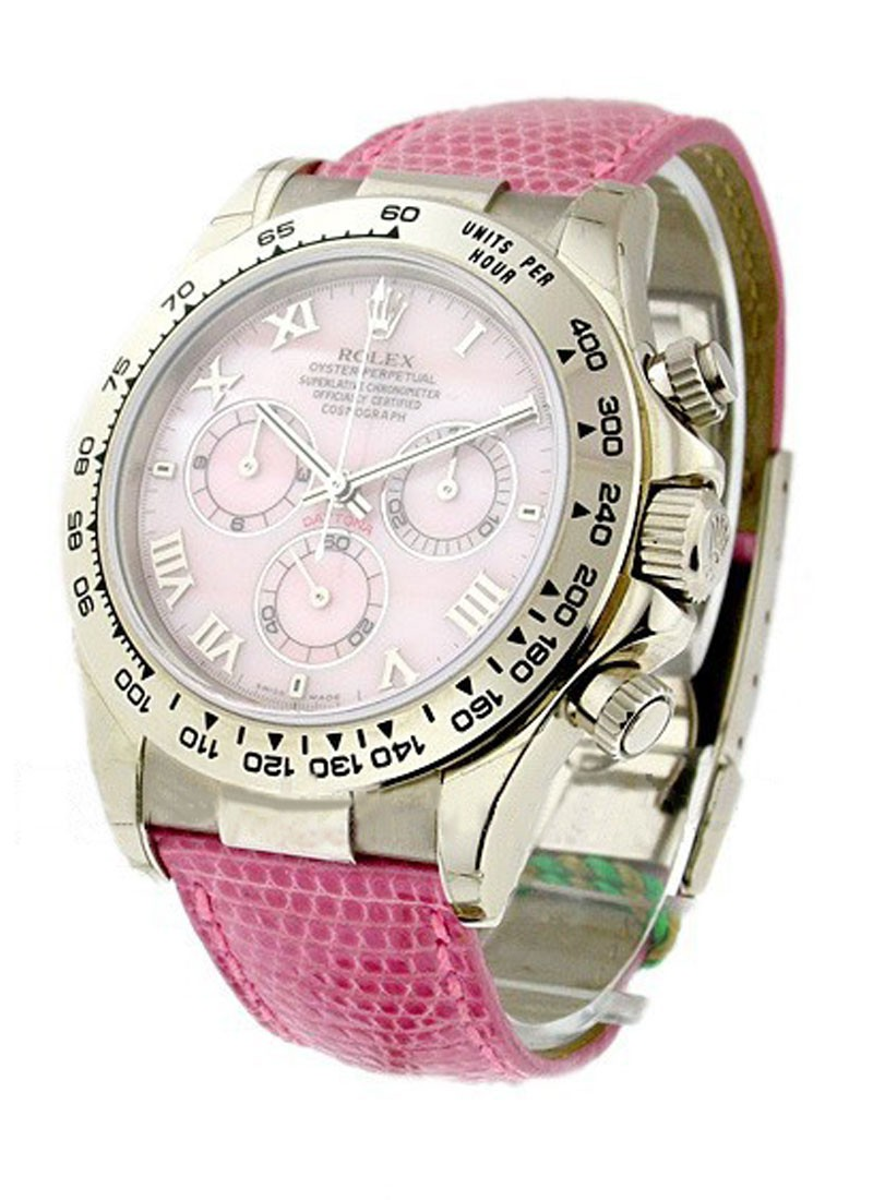 Rolex Used Daytona Beach Edition In White Gold 116519 Mop Pink