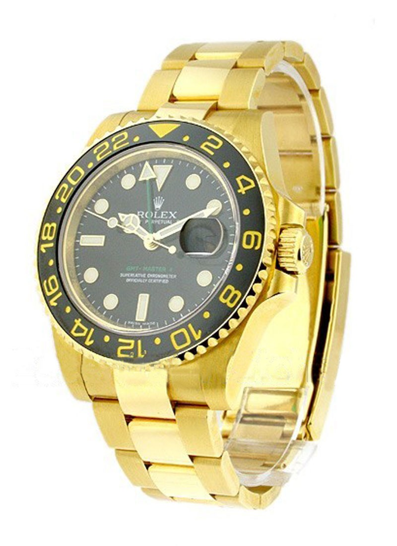Rolex Used GMT Master II Yellow Gold   Ceramic Bezel