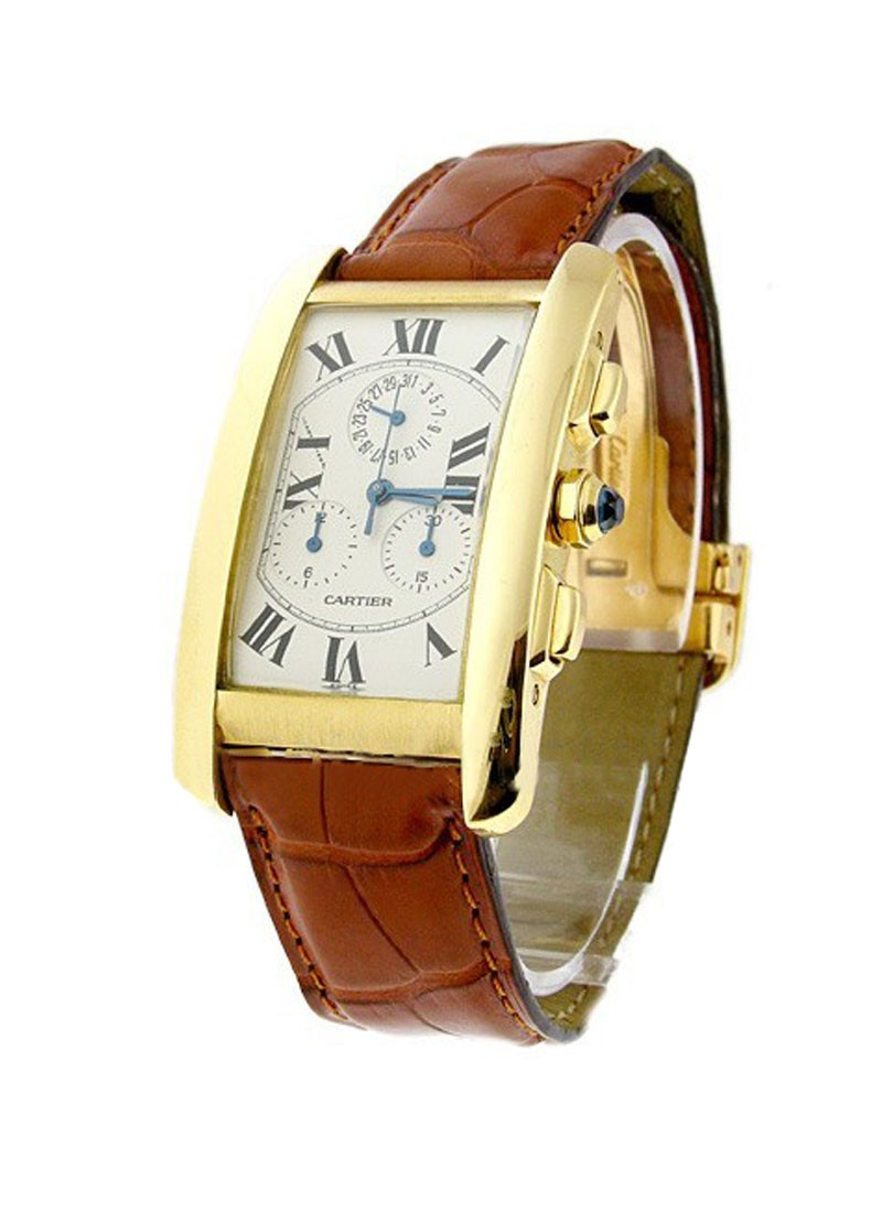 Cartier Tank Americaine Chronograph in Yellow Gold
