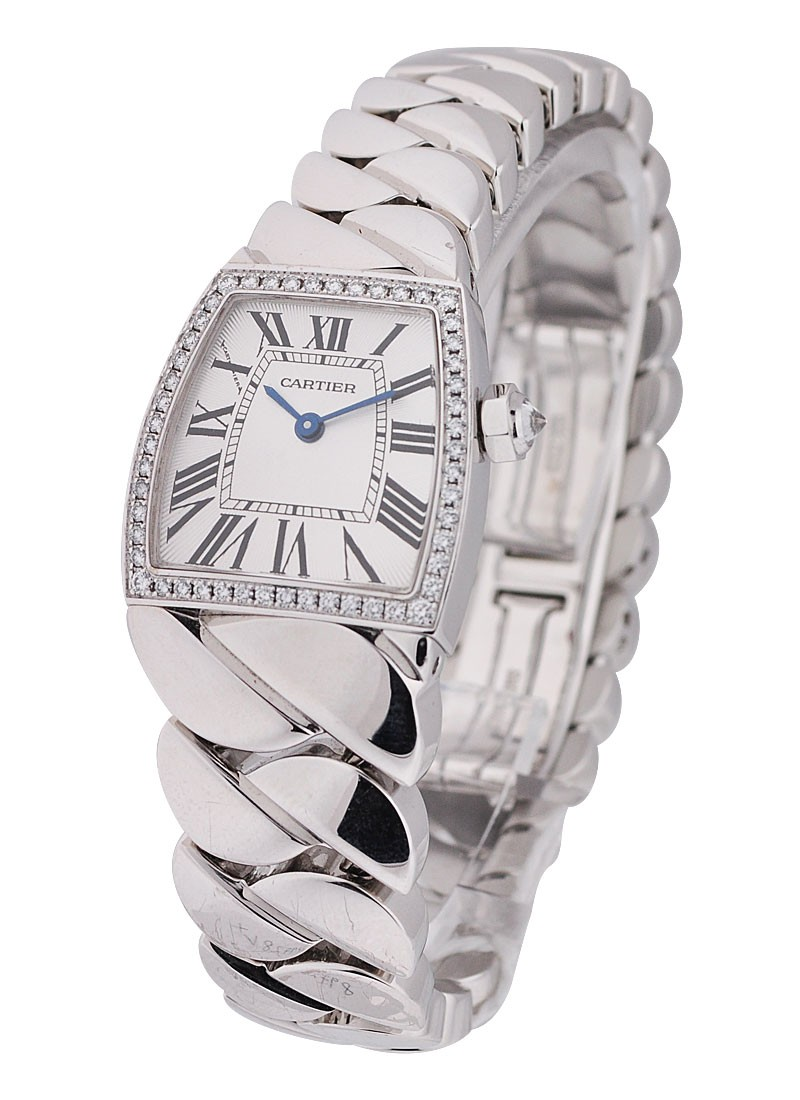 Cartier La Dona Mini in White Gold with Diamond Bezel