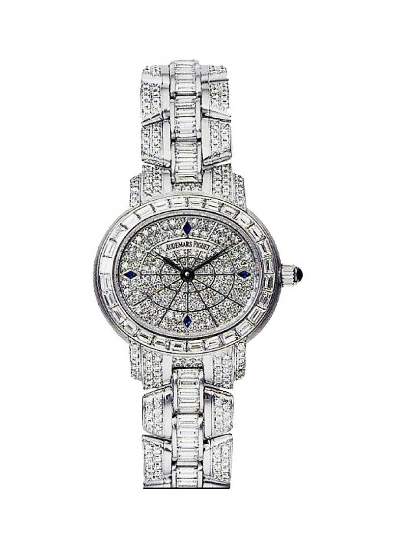 Audemars Piguet August Steiner Millenary in White Gold with Baguette Diamond Bezel