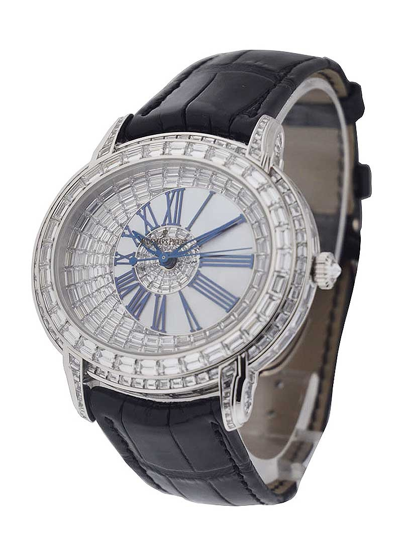 Audemars Piguet Millenary White Gold - Baguette Diamond Case, Bezel, Dial