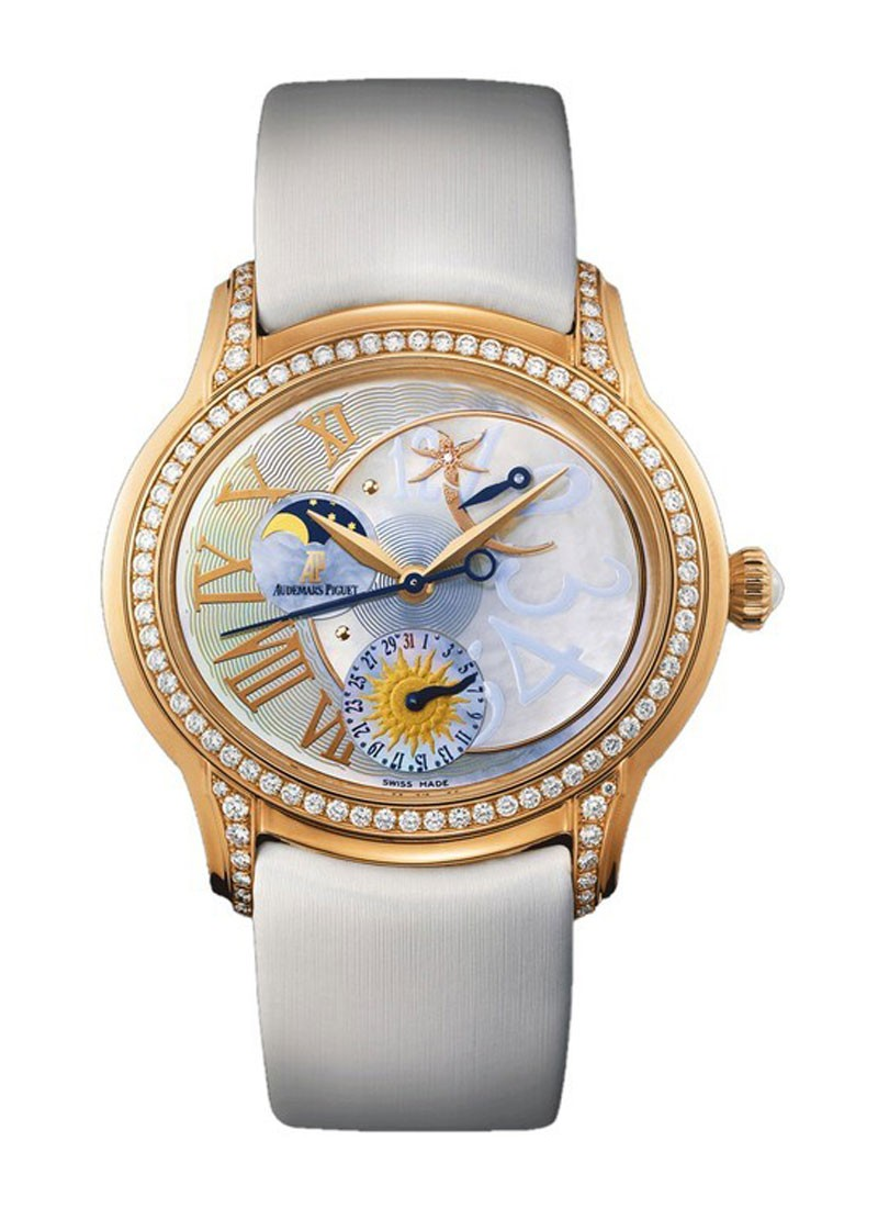 Audemars Piguet Millenary Starlit Sky Collection in Rose Gold with Diamond Bezel
