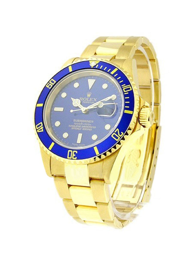 Rolex Used Submariner   Yellow Gold 16618