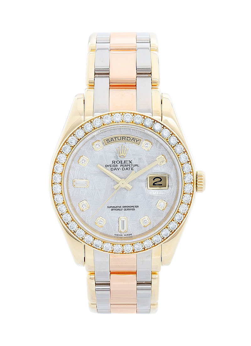 Pre-Owned Rolex Tridor Masterpiece Day Date in Yellow Gold with Diamond Bezel