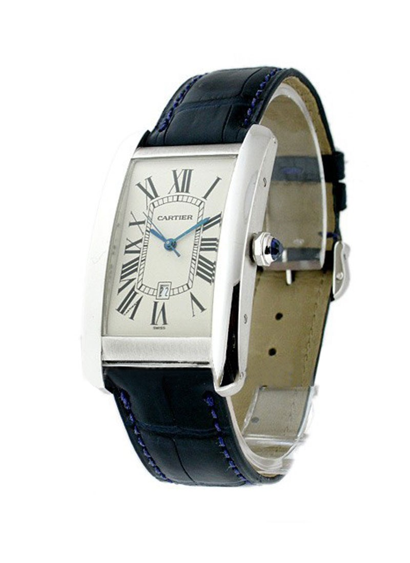 Cartier Tank Americaine - Large Size in White Gold