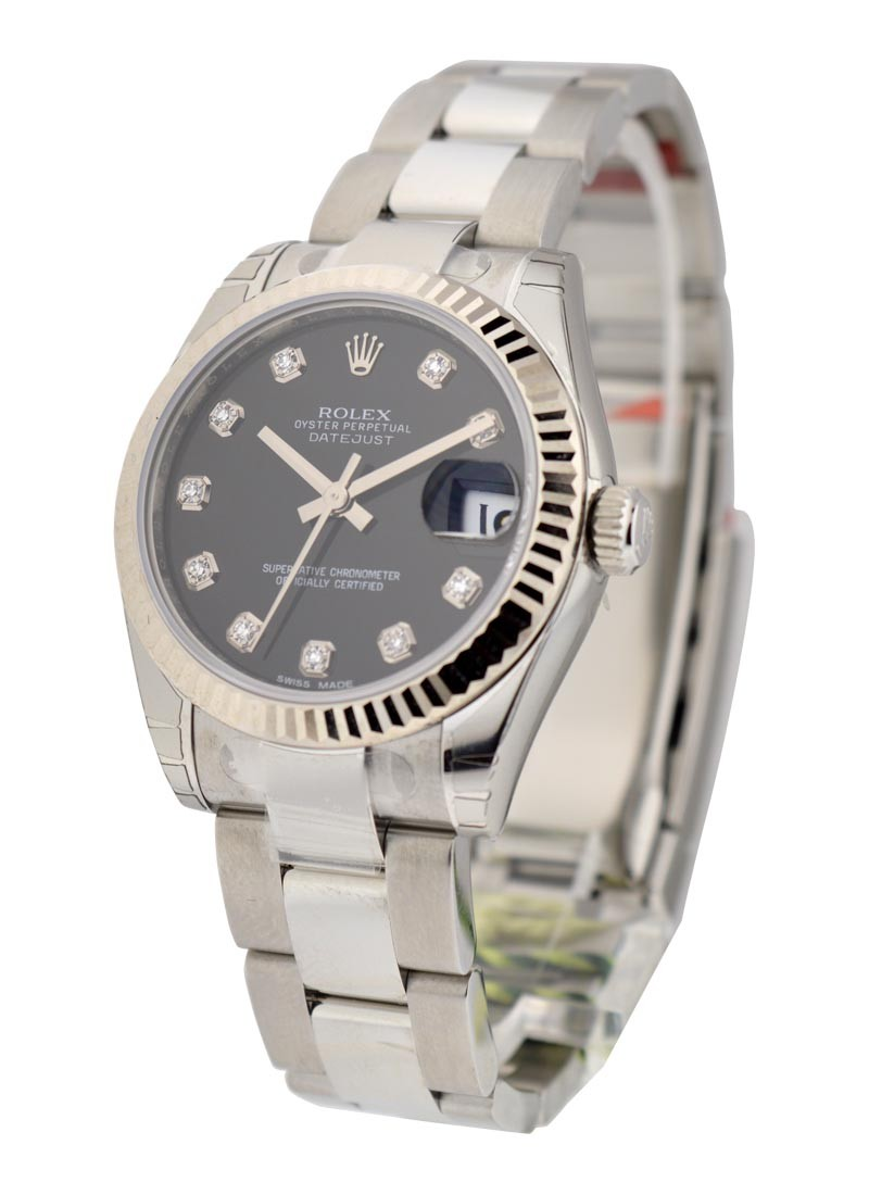 Rolex Unworn Datejust 31mm Mid Size in Steel with Fluted Bezel
