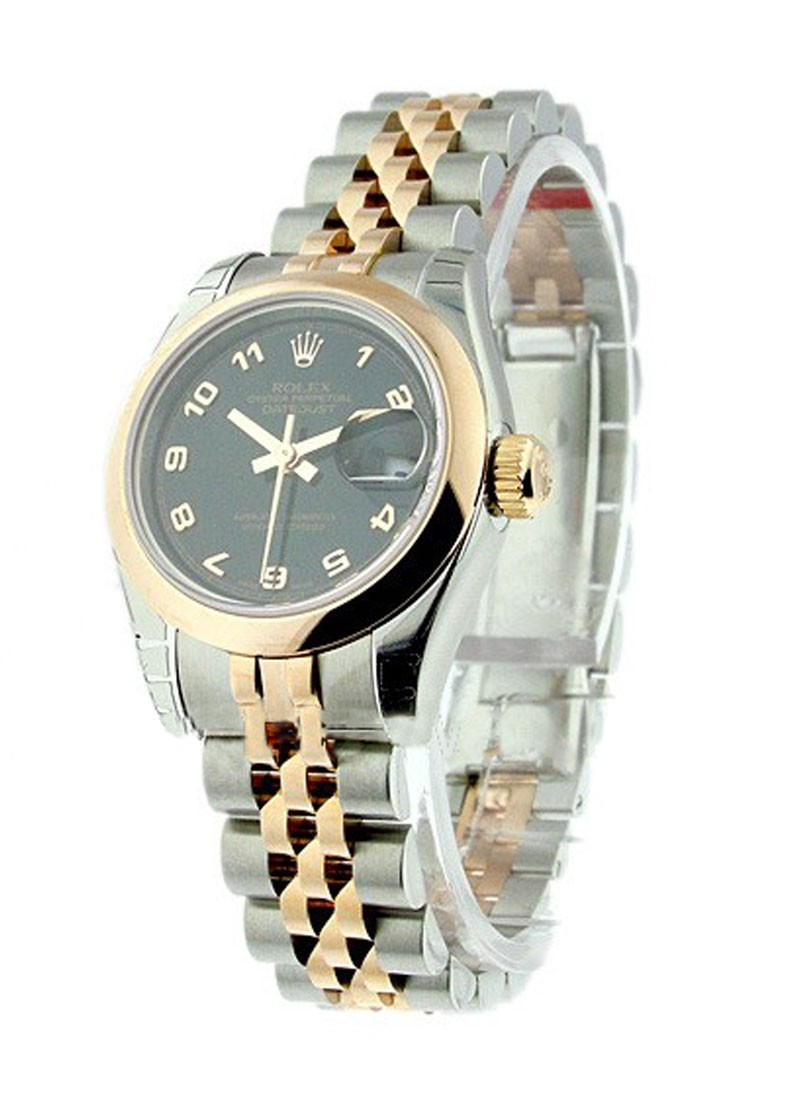 Rolex Unworn Ladies Datejust 26mm in Steel with Rose Gold Domed Bezel
