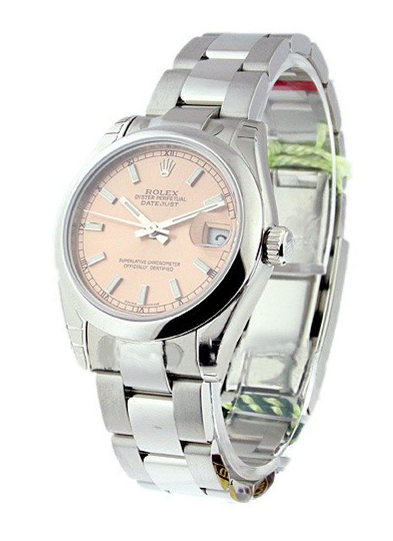 Rolex Unworn Mid Size Datejust in Steel with Domed Bezel