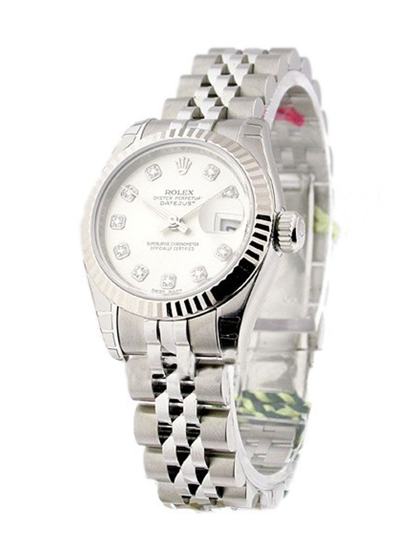 Rolex Unworn Datejust 26mm in Steel with White Gold Fluted Bezel
