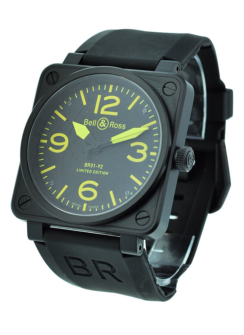 Bell & Ross BRO1-92 Automatic in Black Carbon Coated Steel