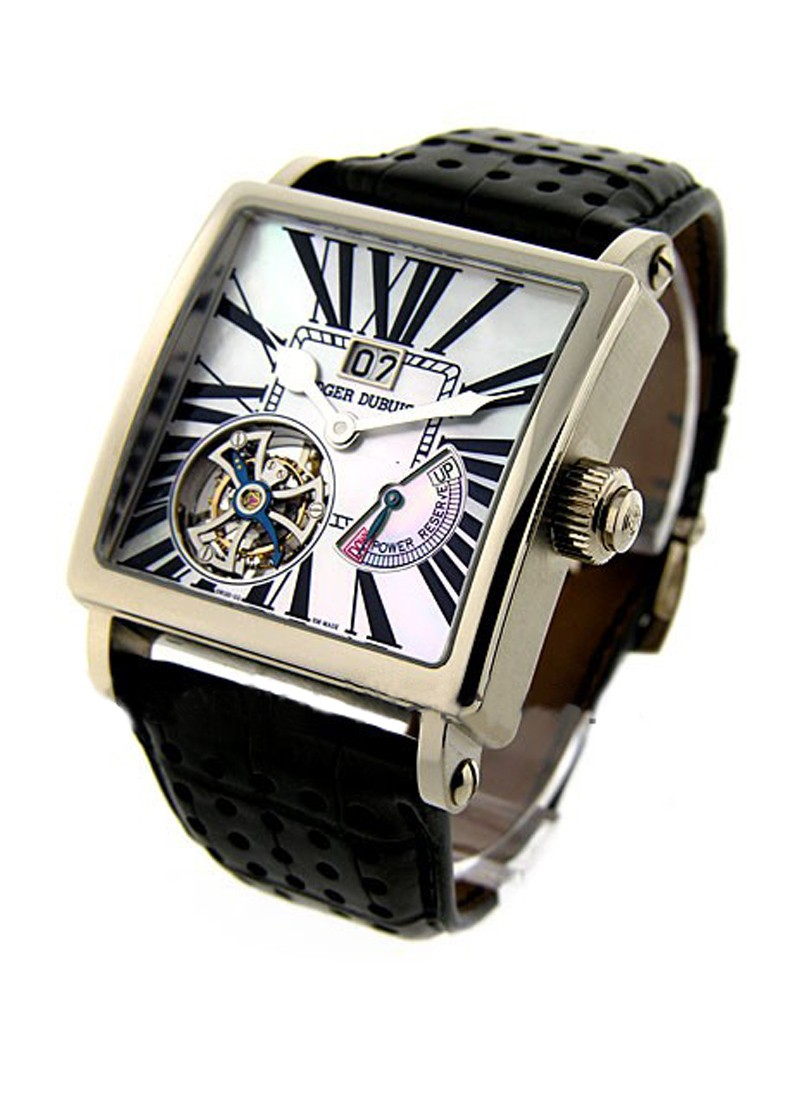 Roger Dubuis Golden Square Tourbillon 40mm in White Gold