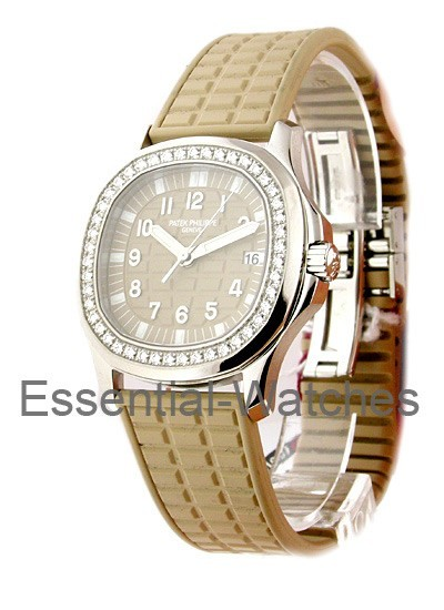 Patek Philippe 5067A - Lady's Aquanaut Luce with Diamond Bezel - Tan Color