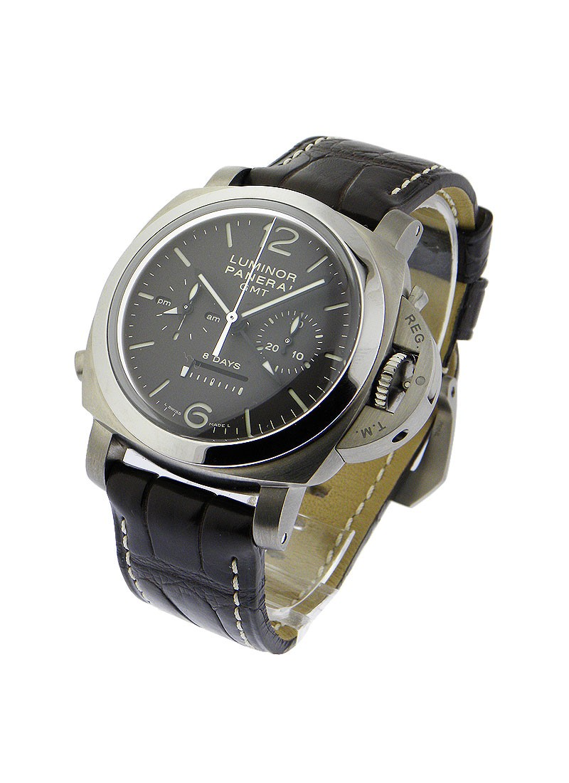 Panerai PAM 311 - 1950 8 Day Chrono Monopulsante GMT in Titanium
