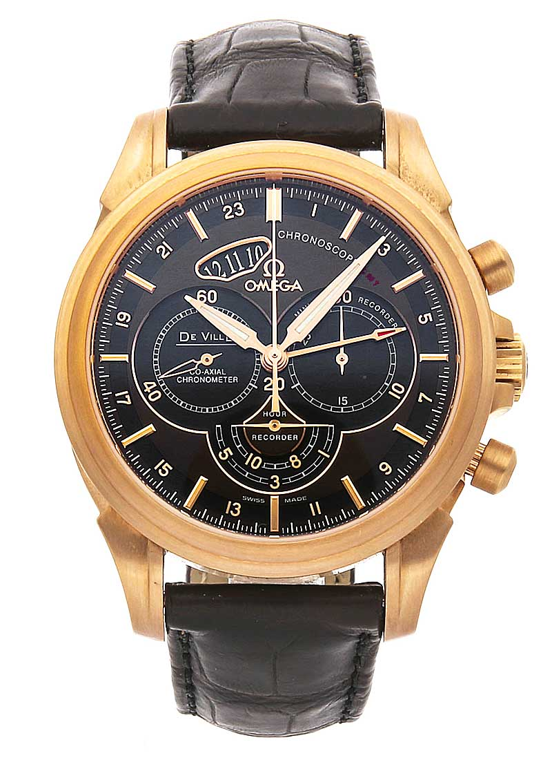 Omega Co-Axial Chronoscope GMT Chronograph in Rose Gold
